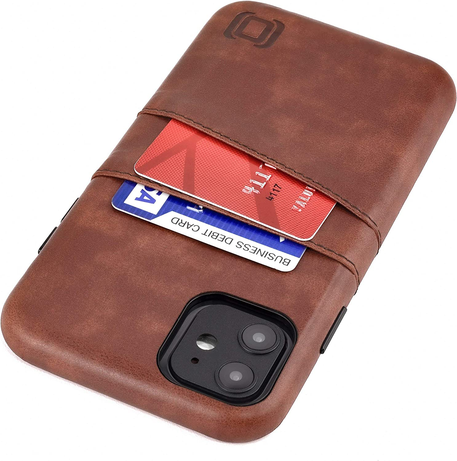 Dockem iPhone 11 Wallet Case: Built-in Metal Plate for Magnetic Mounting & 2 Credit Card Holders (6.1
