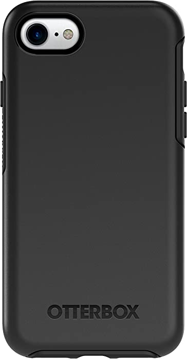 OtterBox SYMMETRY SERIES Case for iPhone SE (2nd gen) and iPhone 8/7 (NOT PLUS) - Retail Packaging - BLACK