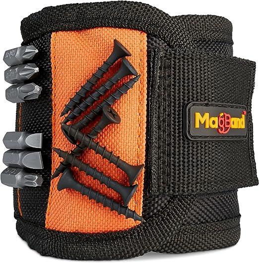 Bracelet magn/étique magn/étique Wristband Diy Hommes Gadget outil Aimants Ceinture Porte-poignet bande organisateur noir