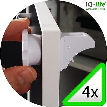 iQ-LOCK® unsichtbare Magnet Kindersicherung 4 STÜCK + 1 Schlüssel ...