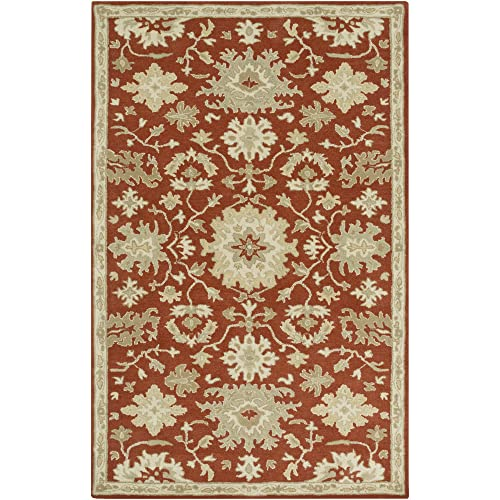 Safavieh Nantucket Collection NAN607A Handmade Abstract Blue Cotton Premium Area Rug 4 x 6