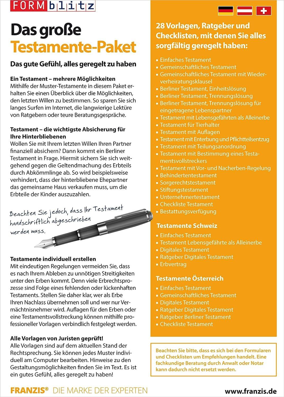 Das große Testamente Paket: Amazon.de: Software