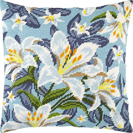 Printed Tapestry Canvas Throw Pillow 16/×16 Inches Sunflowers Needlepoint Kit Cushion Back Included European Quality