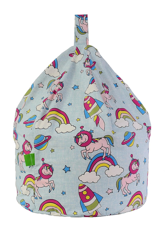 Excellent Cotton Space Unicorn Pastel Rainbow Bean Bag Gaming Chair Adult Size By Bean Lazy Machost Co Dining Chair Design Ideas Machostcouk