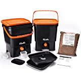 Skaza - mind your eco Bokashi Organico Kitchen composter, Black/Orange