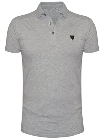 Antony Morato Camisa de Polo del Escudo Gris Medium: Amazon.es ...