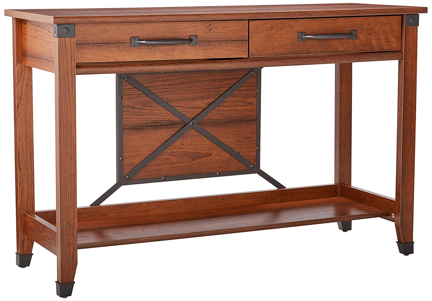 Sauder Carson Forge Sofa Table, Washington Cherry Finish 414443