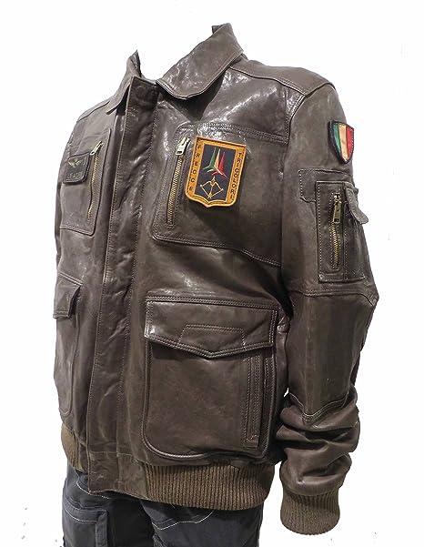 more photos 9b923 ac32f Aeronautica Militare Giubbotto PN8461 marrone, 3XL (IT 56 ...