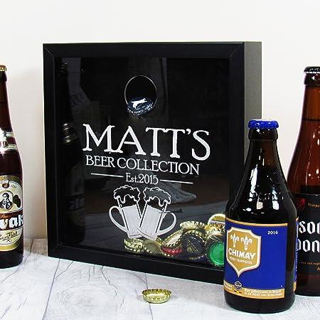 Beer Cap Frame, Home Bar Personalised Bottle Cap Box, Craft Beer ...