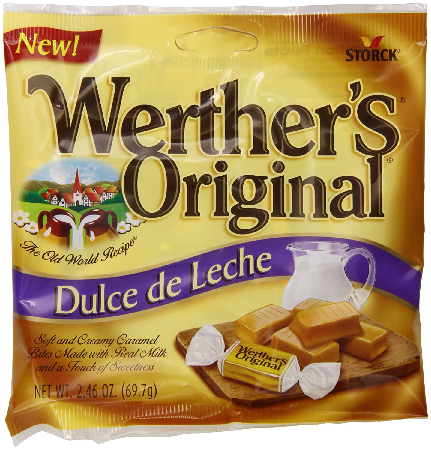 Amazon.com : Werthers Original Dulce de Leche Caramels, 2.46 Ounce (Pack of 12) : Caramel Candy : Grocery & Gourmet Food