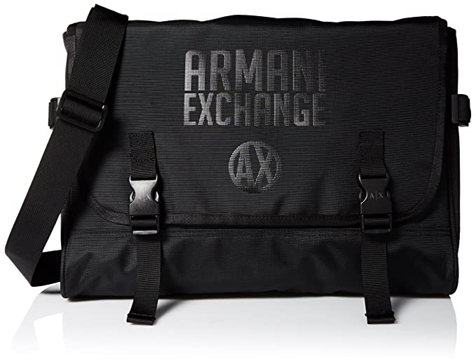 Amazon.com  Armani Exchange Men s Utility Messenger Bag, Black, TU ... 64b3fbe4fe9