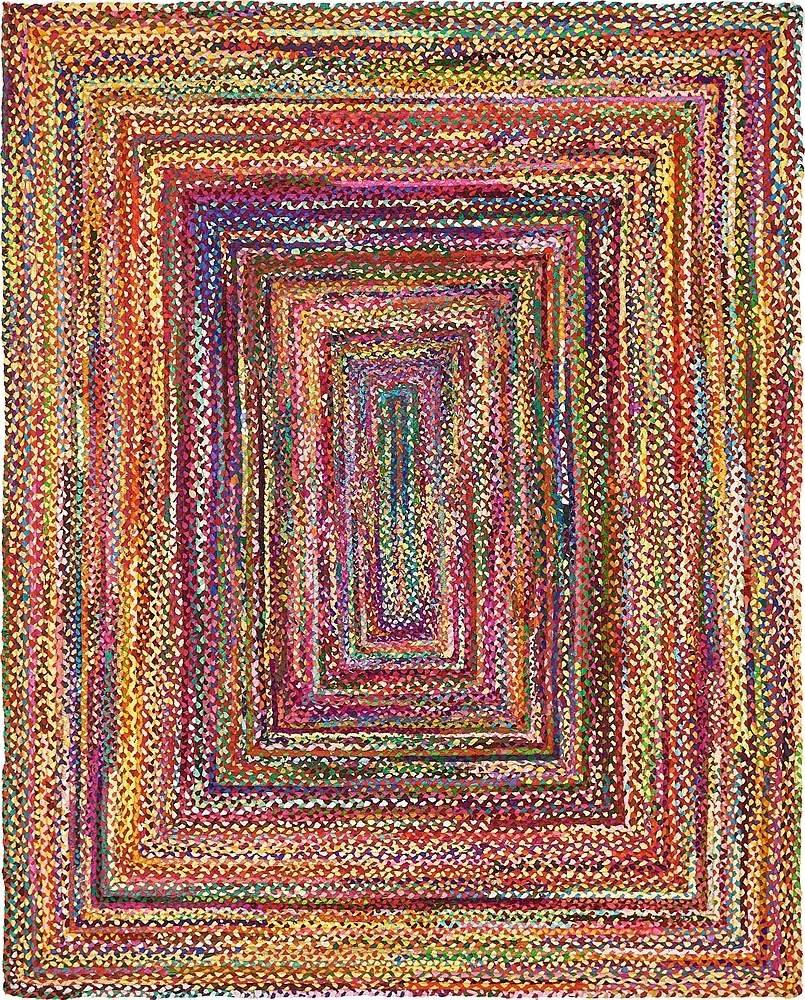 Uniquely Modern Rugs: Unique Loom Braided Chindi Collection Casual Modern Multi