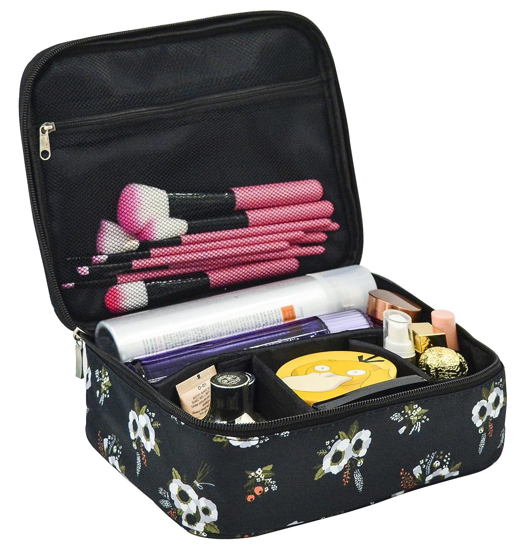 Amazon.com   Portable Quick Makeup Bag Toiletry Kit Organizer Waterproof Travel  Storage Cosmetic Bag for Women(Flower)   Beauty c8daa00d05ed4