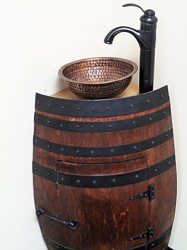 Amazon.com: Mini Oak Wine Barrel Corner Bathroom Vanity Sink ... on wine or whiskey barrels, wicker bathroom vanity, chocolate bathroom vanity, pineapple bathroom vanity, wine keg, wine barrel bathroom shelves, green bathroom vanity, wine barrel vanity light, wine cask bathroom vanity, wood bathroom vanity, raspberry bathroom vanity, oak bathroom vanity, walnut bathroom vanity, old wooden barrel made into a vanity, wood barrel vanity, copper sinks for bathrooms vanity, window bathroom vanity, crate and barrel bathroom vanity, half barrel vanity, barrel sink vanity,