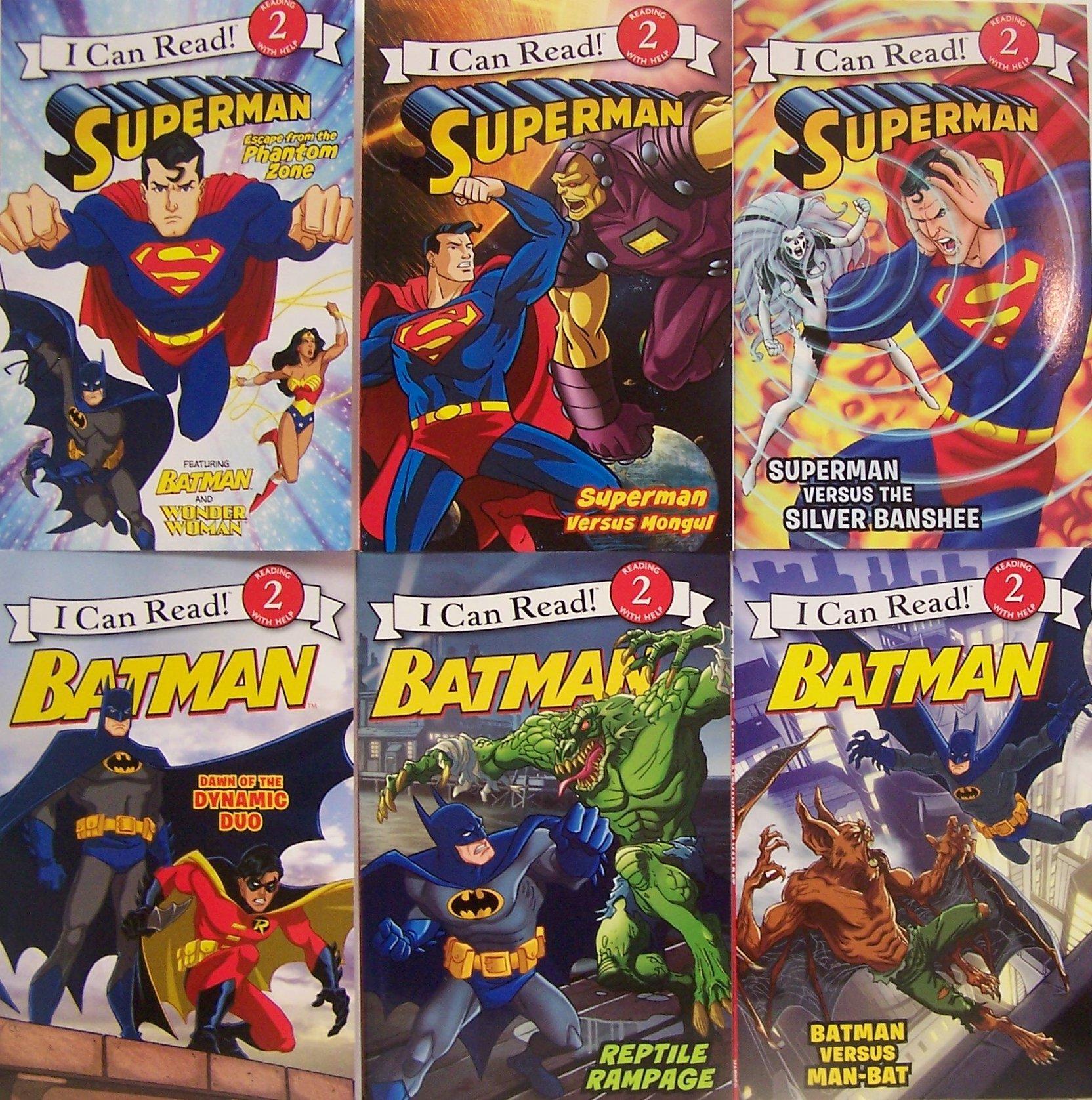 Read Online I Can Read Superman and Batman, Level 2 - 6 Book Set (Superman Escape from the Phantom Zone, Superman Versus Mongui, SupermanVersus the Silver Banshee, Batman Versus Man Bat, Batman Reptile Rampage, Batman Dawn of the Dyanmic Duo) ebook