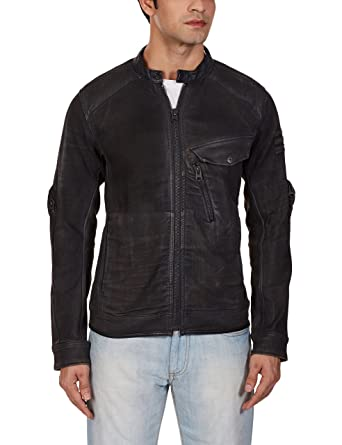 G-Star Raw Mens Revend 3D Slim Jacket In Slander Black Superstretch Dk Aged Cobler
