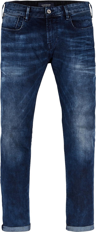 Scotch & Soda Tye-Blauw Flash Vaqueros Slim para Hombre