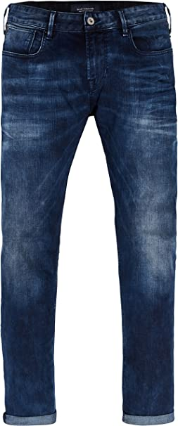 TALLA 30W / 32L. Scotch & Soda Tye-Blauw Flash Vaqueros Slim para Hombre