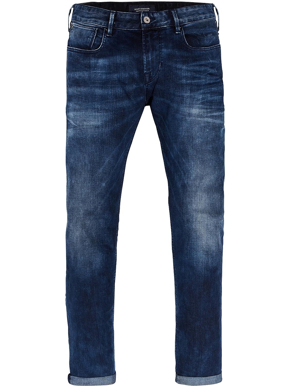 TALLA 30W / 32L. Scotch & Soda Tye-Blauw Flash Vaqueros Slim para Hombre