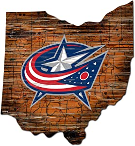 Fan Creations NHL Columbus Blue Jackets Unisex Columbus Blue Jackets Mini Roadmap State Sign, Team Color, 12 inch