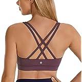CRZ YOGA Strappy Yoga Bra for Women Fitness Workout Sports Bra