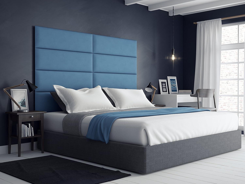 Blue Upholstered Headboard Hom Decor