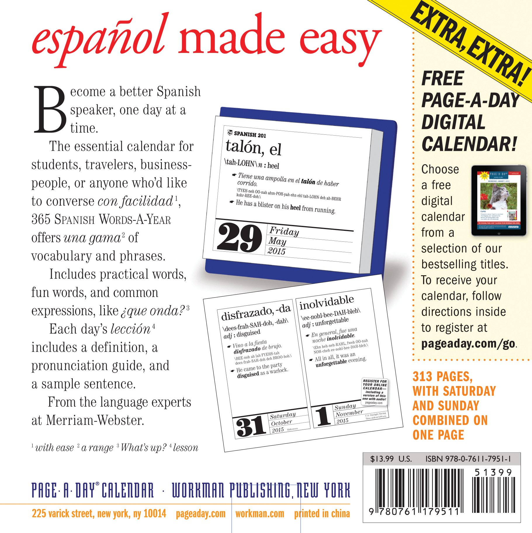Amazon.com: 365 Spanish Words-A-Year 2015 Page-A-Day Calendar ...