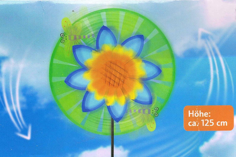 Melinera® Windspiel Garten Balkon Terrasse Deko mit Erdspieß Sonnenblume