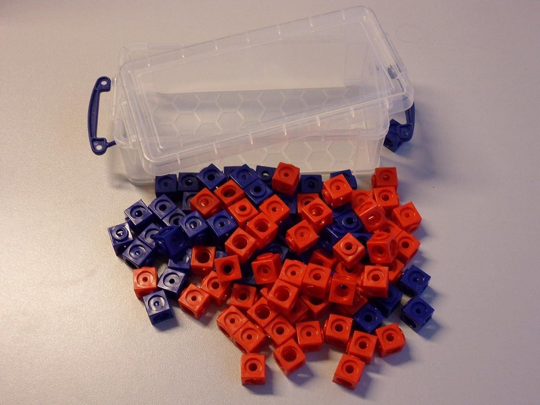 100 Steckwürfel 2-farbig (rot, blau) in der praktischen Box, 1,7cm, allseitig steckbar Schulbuchhandlung Sieboldt