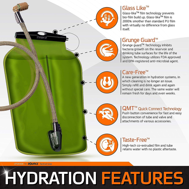 Source Tactical Kangourou 1-Liter Pliable Cantine avec syst/ème dhydratation avec /étui