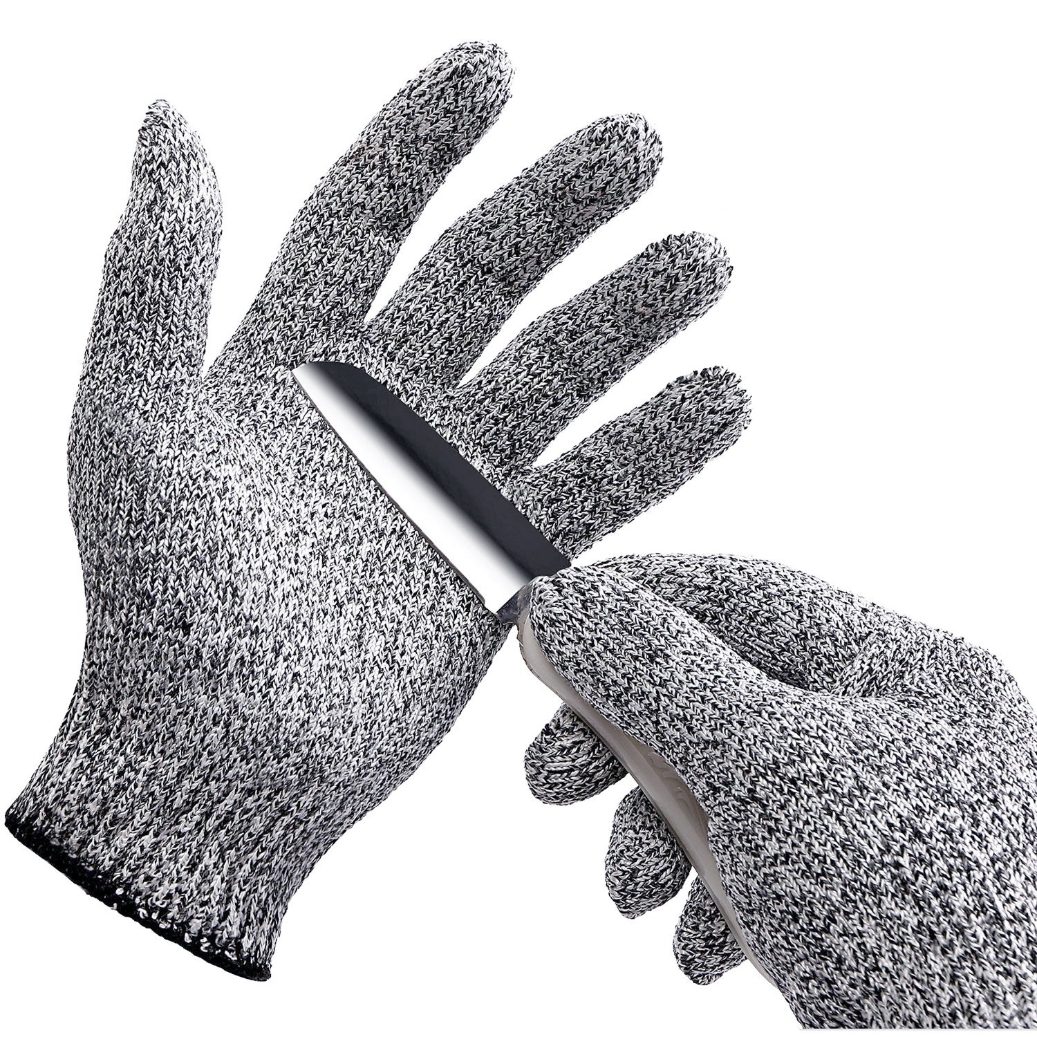 YiZYiF Cut Resistant Gloves Best Food Grade Kitchen Level 5 Cut Protection Knit Safety for Cooking, Working, Wood carving