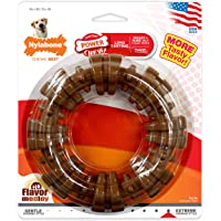 Nylabone Power Chew Textured Ring, Large Durable Dog Chew Toy, Great for Aggressive Chewers