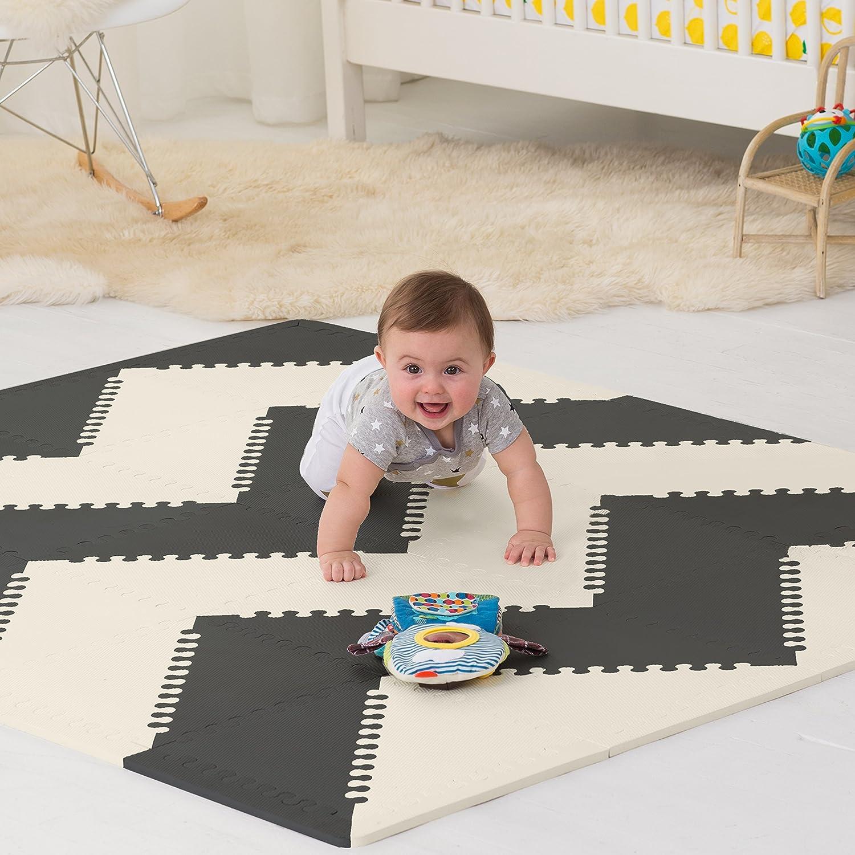 Amazon skip hop geo black white playspot foam floor tile amazon skip hop geo black white playspot foam floor tile playmat chevron baby dailygadgetfo Image collections