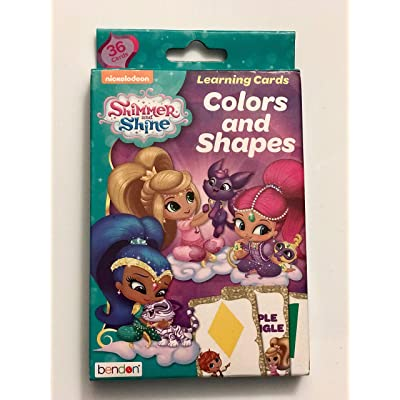 Shimmer & Shine Colors and Shapes Learning Cards: Toys & Games