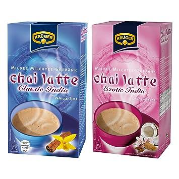 Krüger Chai Latte Classic & EXOTIC India Set, detergente té de la leche de la