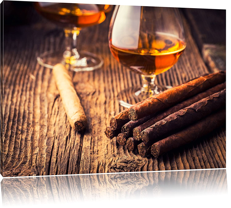 Whisky und und und Zigarre Format  120x80 cm auf Leinwand, XXL riesige Bilder fertig gerahmt mit Keilrahmen, Kunstdruck auf Wandbild mit Rahmen, günstiger als Gemälde oder Ölbild, kein Poster oder Plakat 4e26e1