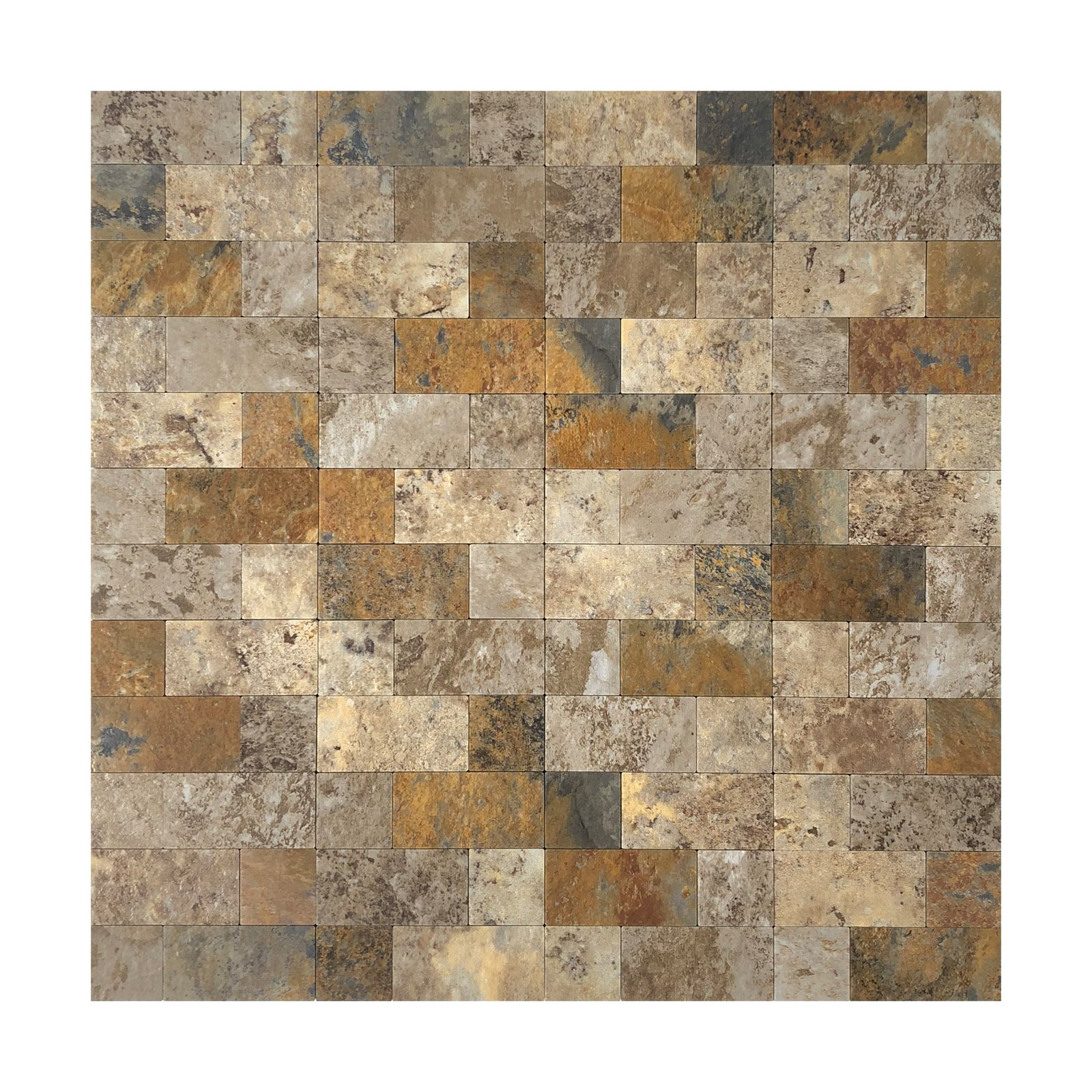 Art3d 12''x12'' Peel and Stick Backsplash Tile for Kitchen, Faux Stone Backsplash (5 Tiles)