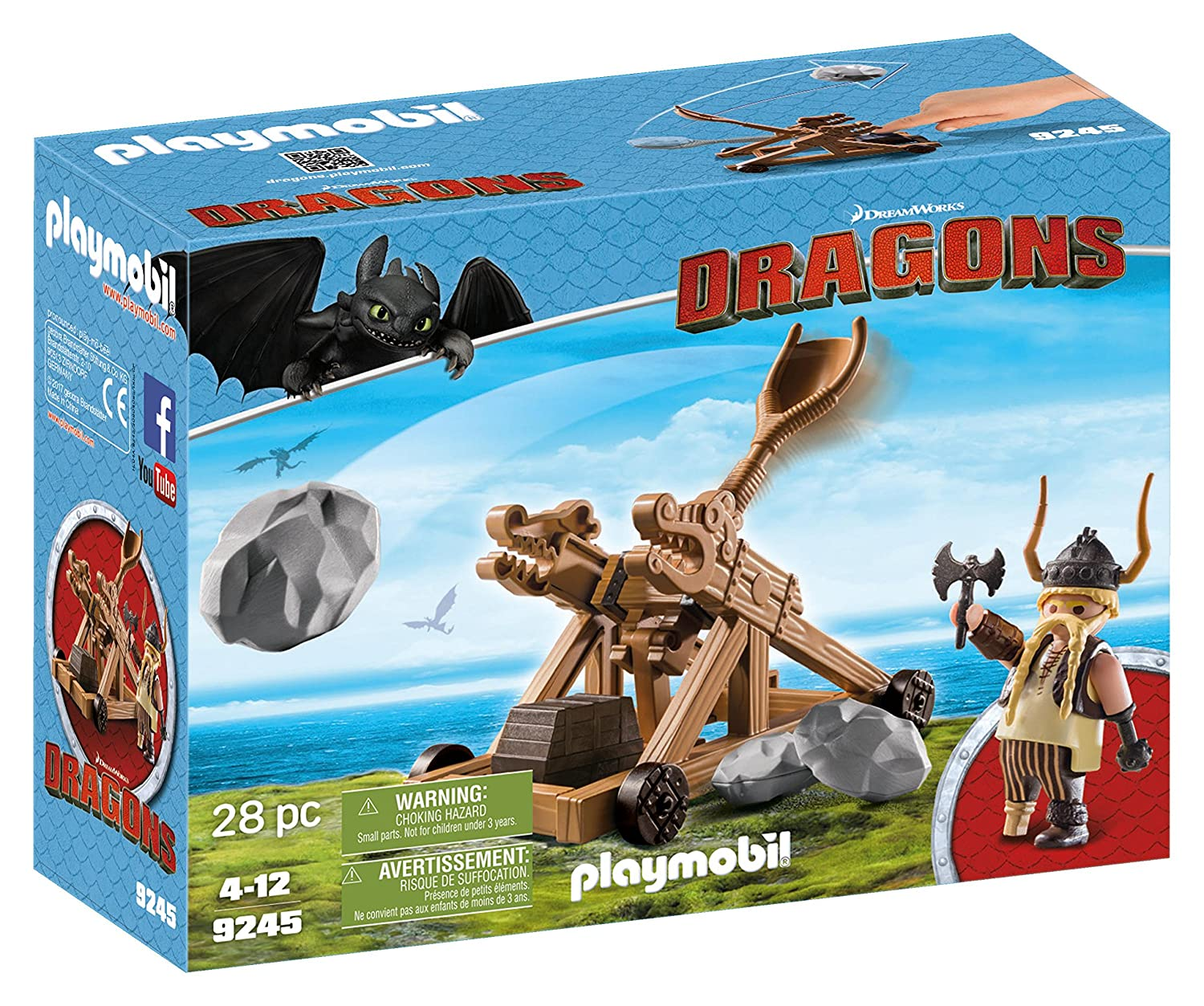 Playmobil - 9245 - Dragons - Gueulfor Avec Catapulte