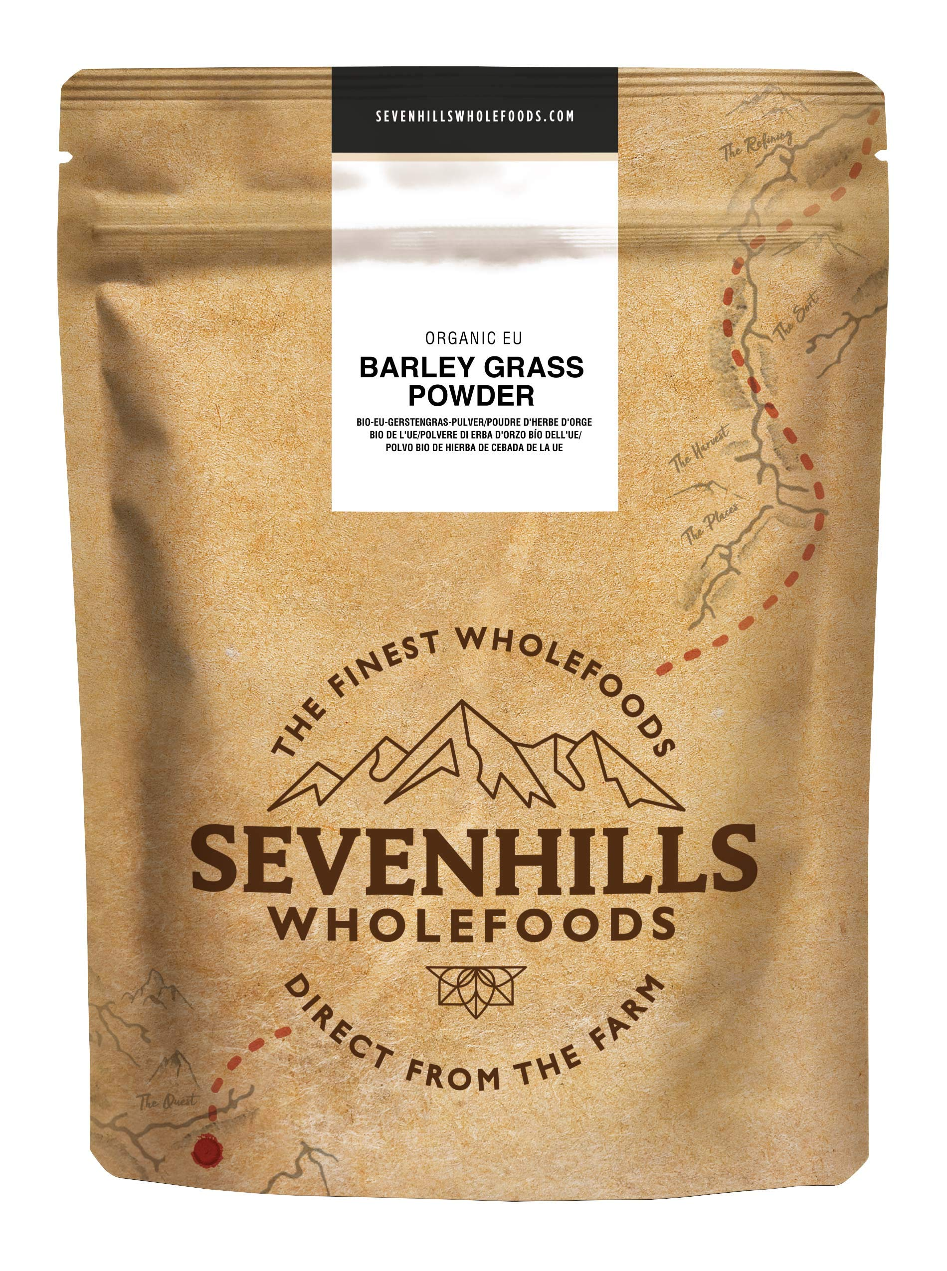 Sevenhills Wholefoods Organic European Barley Grass Powder 1kg product image