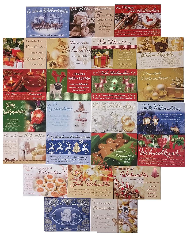 50 zauberhafte und hochwertige Weihnachtskarten 17x12cm u.a. von ...