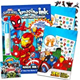 Marvel Super Hero Adventures Imagine Ink Coloring Book Activity Set ~ No Mess Magic Ink Activity Book with Avengers Stickers