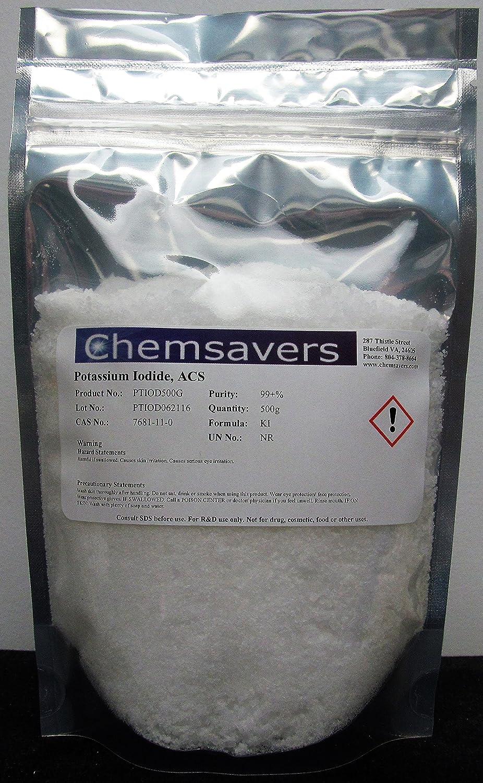 Yoduro de Potasio, ACS, 100.0%, cristales/polvo, 500 g: Amazon.es: Amazon.es