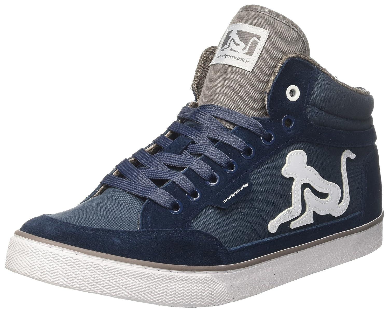 DrunknMunky Boston Classic, Sneaker a Collo Alto Uomo, Blu (Navylight Gray), 41 EU