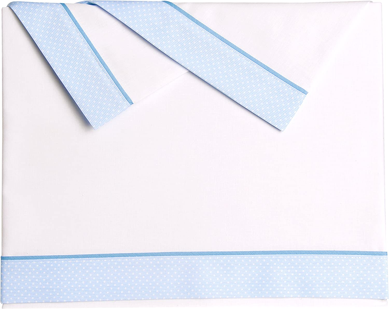 35 x 75 cm Pekebaby Tr/íptico S/ábanas Algod/ón Coche de beb/é PETITES azul