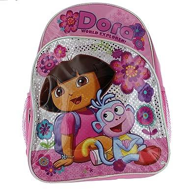 Amazon.com: Dora Mochila brillante rosa mochila: Clothing