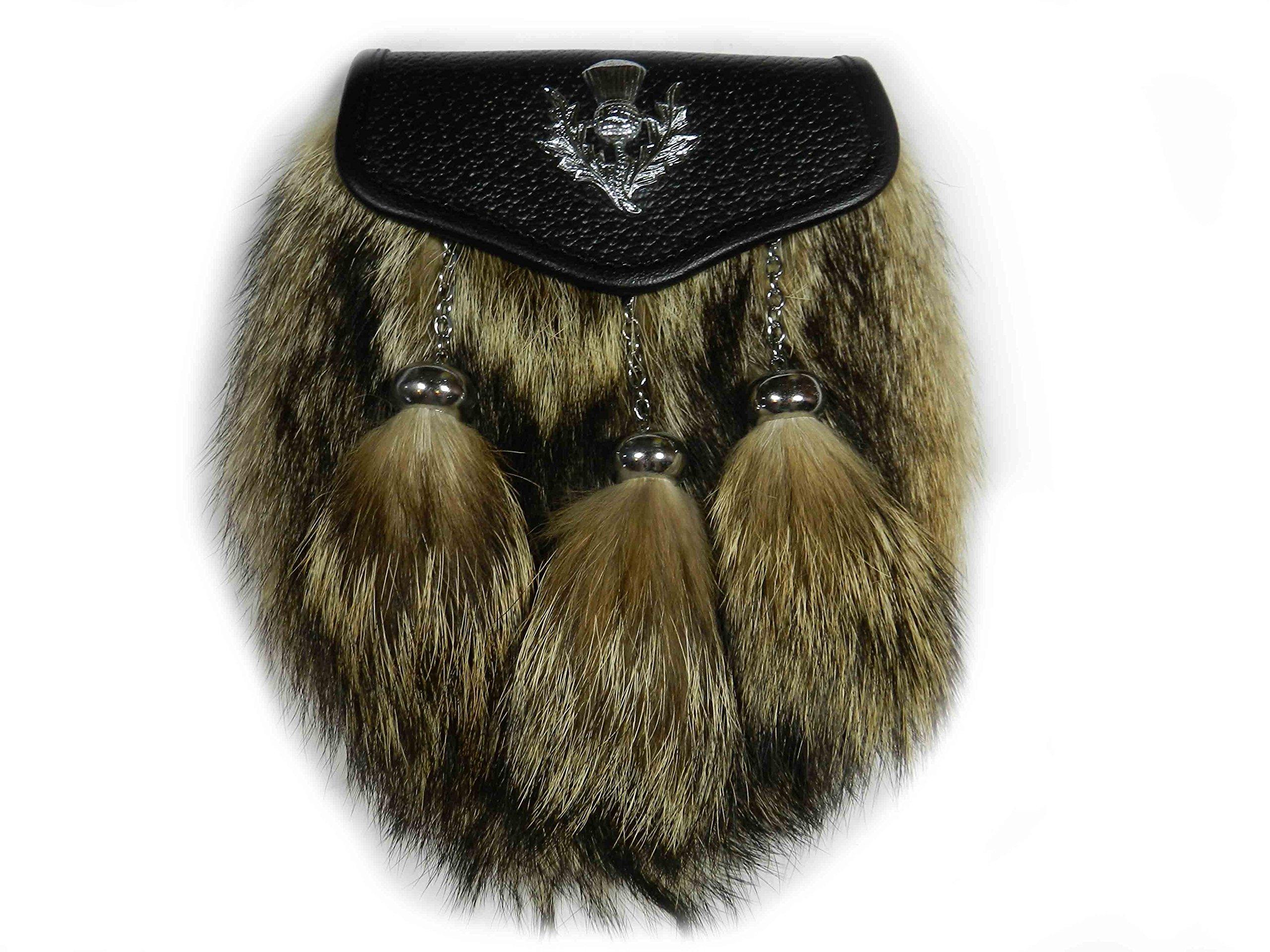 Scottish Kilt Coyote Fur Sporrans - Formal or Semi Formal (Semi Formal)… (Semi Formal)