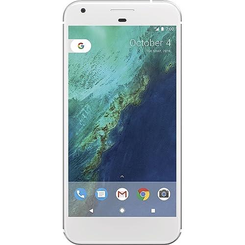 Google Pixel XL Smartphone de 5 5 4G memoria interna de 128 GB RAM de 4 GB cámara frontal de 8 MP Android Plata