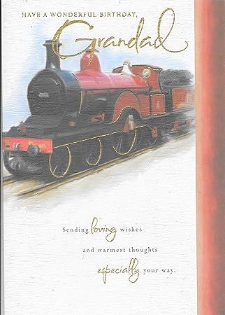 Abuelo Tarjeta de cumpleaños * * Rojo diseño de tren ...