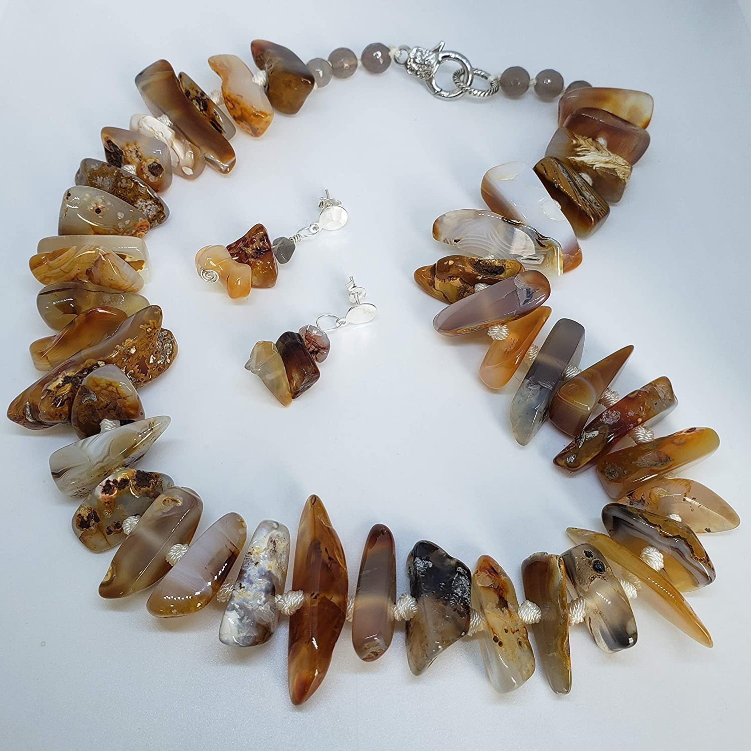 Agate Necklace Real Crystal Necklace