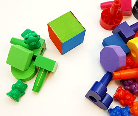 Children/'s Toy 1000 coloured Pegs To be used with peg boards CountingPatterns